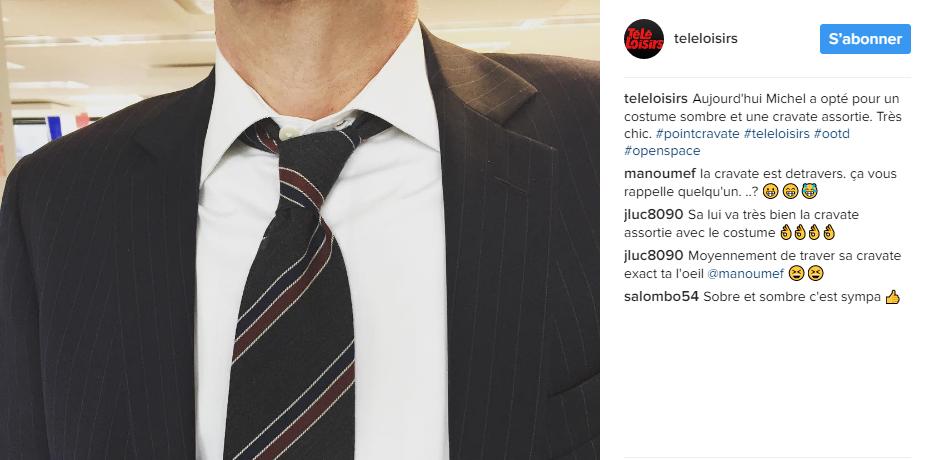 Télé-loisirs instagram Point cravate