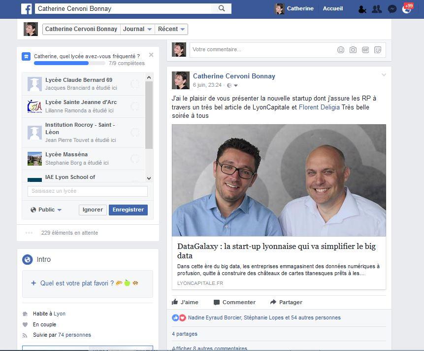 Facebook - nouveau client