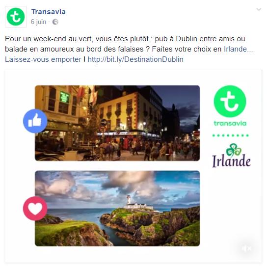 CM transavia Facebook