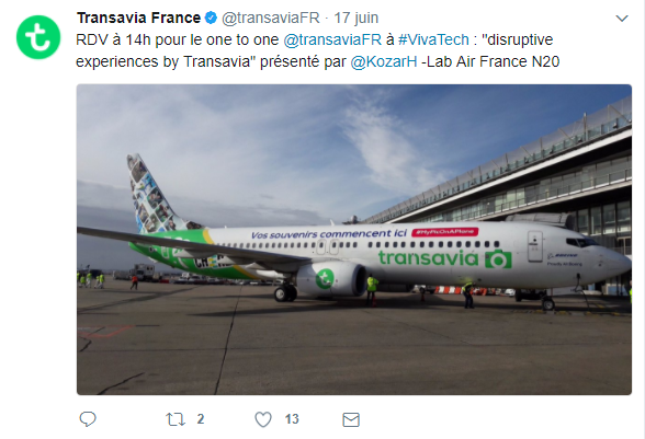 CM Transavia twitter corporate