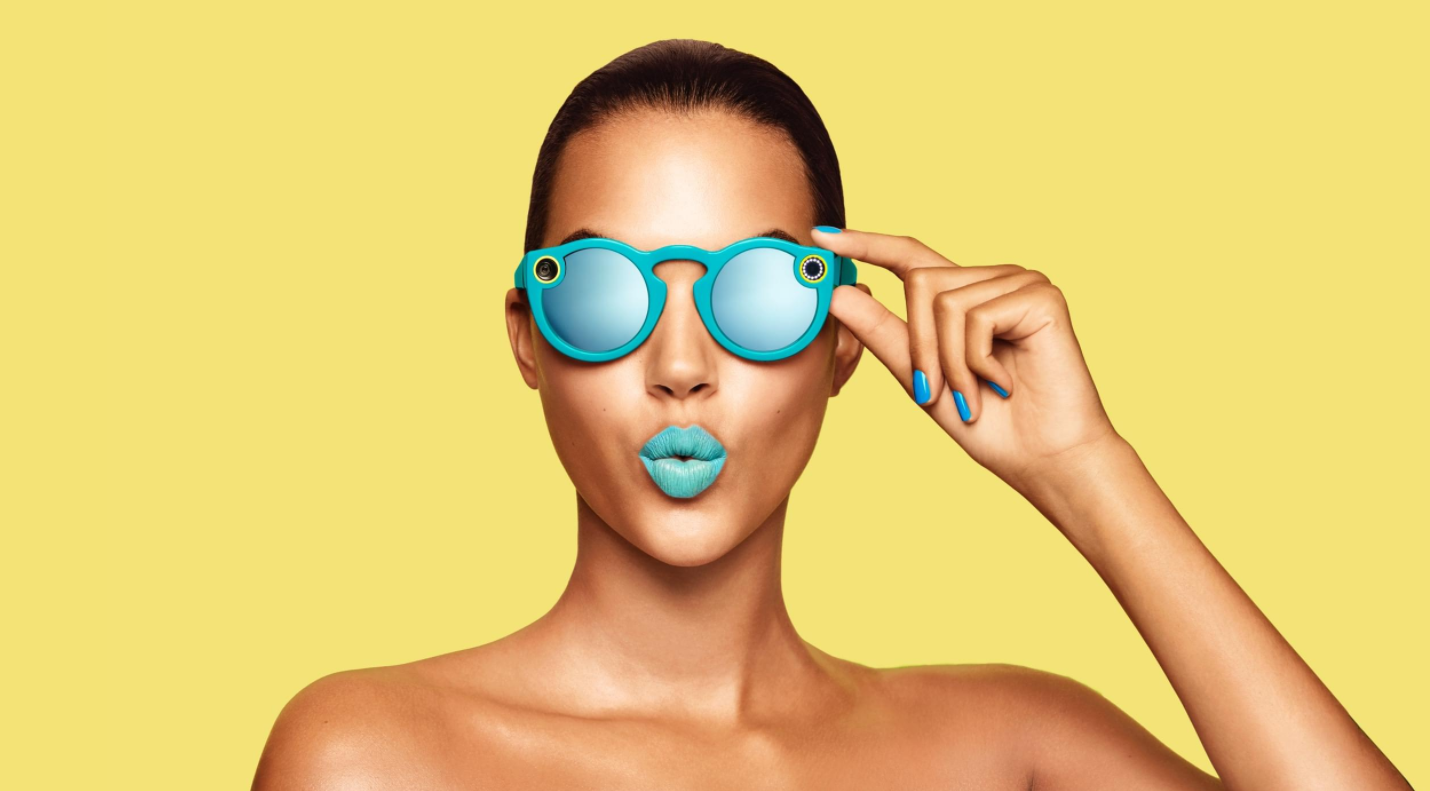 Snapchat lunettes Spectacles jaune