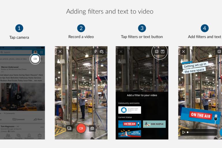 LinkedIn filtre vidéo