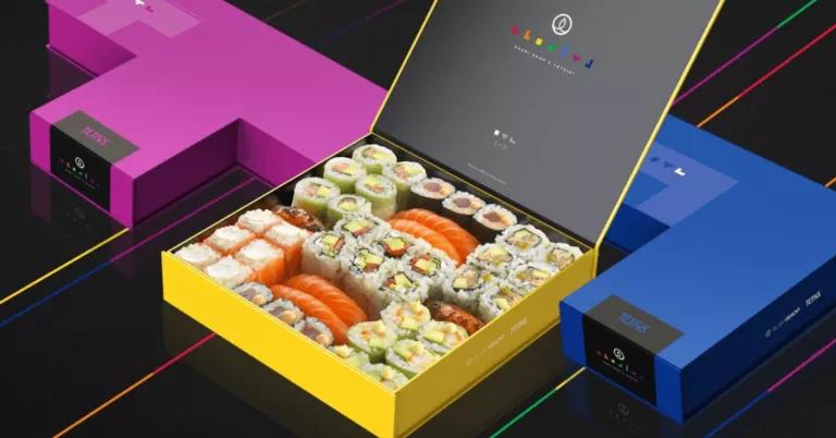 Images des boîtes de sushis pour la collaboration avec Tetris